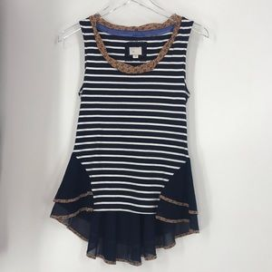 Anthropologie striped tank top.